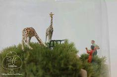 Zoo Terrarium with giraffes.