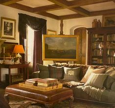 Living Room Designs, Living Room Decor, Living Spaces, Style At Home, Masculine Living Rooms, Masculine Room, English Country Decor, Country Style, Country Living