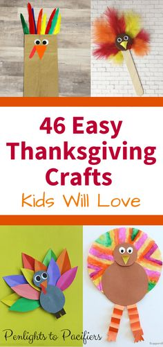 46 Thanksgiving Crafts For Kids