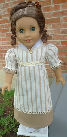 "18"" Doll Clothes Regency Style Day Dress Fits American Girl Caroline, Josefina, Marie Grace,Cecile. $29.95, via Etsy."
