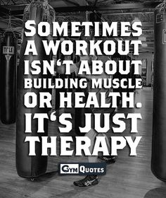 Boy is this the truth. All about the therapy. Sanctuary or hate work out. Still therapy.