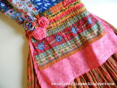 bohemian apron dress | Yay! Just made a dress! But it needs something more...right?
