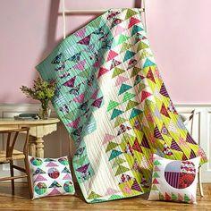 FreeSpirit Fabric: Free Misdirection quilt pattern using Elizabeth by Tula Pink