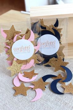 Twinkle Twinkle Little Star Party Decoration - ships in 1-3 business days - Moon and Stars Confetti 50CT Pack
