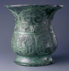 China - Western Zhou dynasty Wine vessel (zun), late 10th century BC - Bronze
