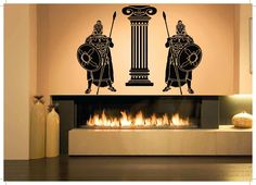 Wall Room Decor Art Vinyl Sticker Mural Decal Roman Soldiers Big Large AS1019