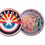 Arizona Centennial Copper 2D Coin