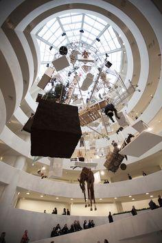 maurizio cattelan: all retrospective at guggenheim, new york