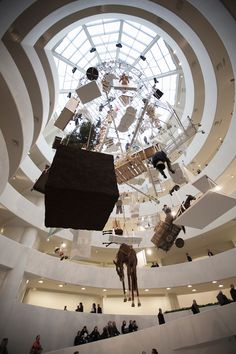 MAURIZIO CATTELAN'S AMAZING ART INSTALLATION IN GUGGENHEIM NEW YORK : fullinsight