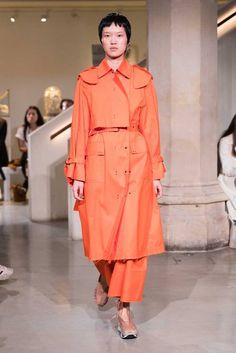 Eudon Choi SS19 Peach Orange, Catwalk, Raincoat, Fashion Brands, Rust, Ready To Wear, Sunday, Rain Jacket, Domingo