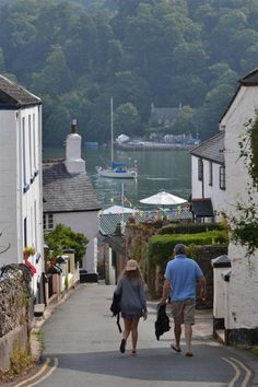 Dittisham Village, Devon, UK
