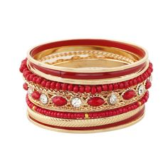 Zinc Alloy Bangle Set, with Crystal & Glass Seed Beads & Resin, gold color plated, faceted & with rhinestone & multi-strand, more colors for choice, lead & cadmium free, 71mm, Inner Diameter:Approx 68mm, Length:Approx 8 Inch,china wholesale jewelry beads
