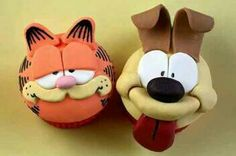 Garfield cup cakes