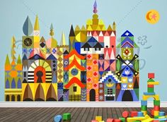 print & pattern: July 2014 its a small world wall decals