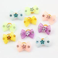Armi store Handmade Mini Mesh Ribbon  Dog Bow Dog Grooming Bows 60290019 Pet Supplies Wholesale // Worldwide FREE Shipping //     #dogsupplies