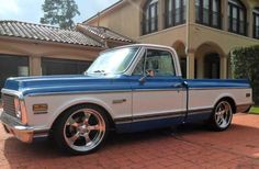 1971 Chevy Cheyenne Super C10 SWB Fleet.- Yes, I would totally drive the hell out of this truck...