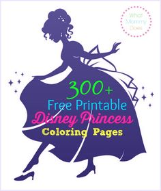 300+ Free Printable Disney Princess Coloring Pages to Print Out - my kids love the Frozen coloring pages best, of course! But there's also The Little Mermaid, Beauty and the Beast, Snow White...so many you'll never run out of quiet time coloring activities for your kids!