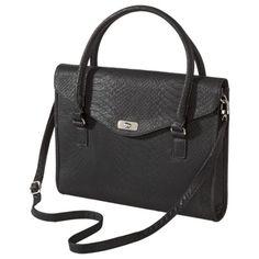 """Girl, you ain't basic"" - said Target  Merona ; Solid Laptop Tote Handbag - Black"