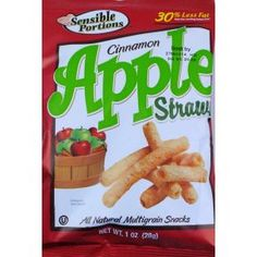 Sensible Portions Cinnamon Apple Straws-1 oz. sealed bag.  All natural ingredients.  0g trans fat.  No preservatives.  Great taste, 30% less fat than the leading potato chip.  All natural multi-grain. Kosher #snack