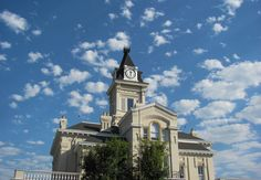Beautiful shot of the Adair County, KY historic courthouse