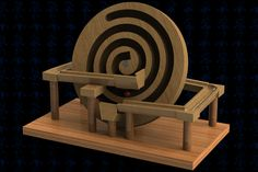 Spiral Marble Machine Wooden Toy - Autodesk 3ds Max,STEP / IGES,SOLIDWORKS,AutoCAD,Parasolid - 3D CAD model - GrabCAD