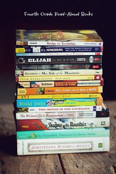 Fourth grade read aloud book suggestions from This Lunch Rox. Also included on this page is a list of first grade read aloud books. Great titles for both grade levels! Kids Reading, Teaching Reading, Reading Aloud, Teaching Ideas, 4th Grade Reading Books, Learning, Close Reading, Creative Teaching, 4th Grade Classroom