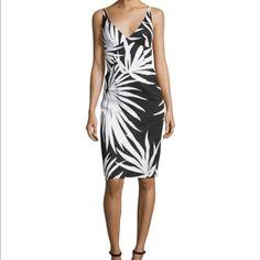 Milly Liz Sheath Dress Palm Print Nwot Size 8