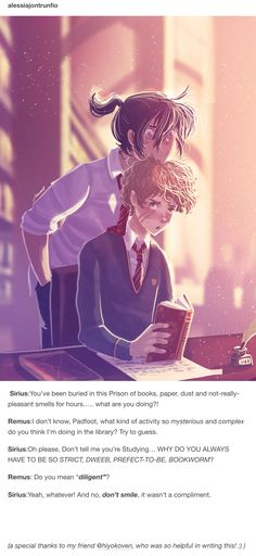 Sirius and Remus - The Marauders by Space Dementia