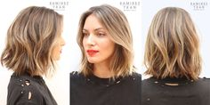 Love this mid length haircut and colour
