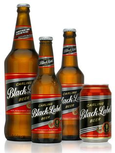 Carling Black Label - Best Beer in South Africa.  Even though it is originally from Canada...still very SA to me( '',)