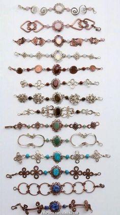 Wire Jewelry Making Tutorials Wire Earring Backs Bijoux Wire Wrap, Wire Wrapped Jewelry, Diy Bracelets Metal, Copper Jewelry, Beaded Jewelry, Bijoux Fil Aluminium, Wire Jewelry Designs, Bracelet Designs, Wire Jewelry Making