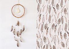 Wall hanging dreamcatcher moon dream catcher boho brown