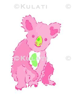 INSTANT DOWNLOAD (no physical items sent) - preppy pink koala clipart - perfect for making your own cards, gift tags, invitations, scrapbooks, planner stickers etc.  1 high quality PNG file (approx. 6 long at 300 ppi). IF YOU WOULD LIKE TO USE THIS FOR COMMERCIAL USE, SEE BELOW. This item