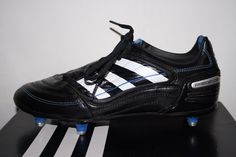 Adidas Black Blue Predator Rugby Football Boots Shoes UK 5,5 with Key Boxed