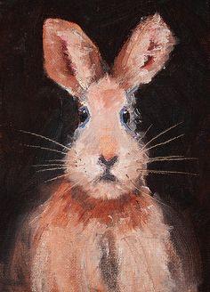 Jack Rabbit Animal Portrait Painting by Nancy Merkle; Original and Fine Art Reproductions for sale