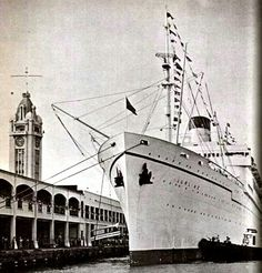 The Lurline docked at the port in Honolulu