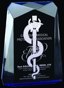 Traverse Blue Radiant Acrylic Award