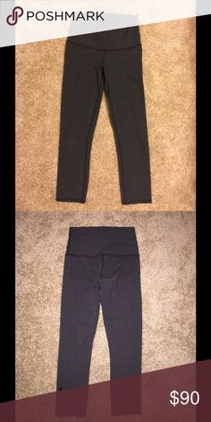 Lululemon wunder under cotton crops wore only a few times! great condtion! no tag on the inside ripped away! looks like new!   please use offer button to make a offer!! lululemon athletica Pants Leggings