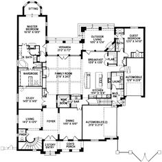 - 15425HN | 1st Floor Master Suite, Butler Walk-in Pantry, Den-Office-Library-Study, In-Law Suite, Luxury, Media-Game-Home Theater, Mediterranean, Multi Stairs to 2nd Floor, PDF | Architectural Designs