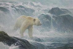 Robert bateman Salmon Watch KERMODE BEAR