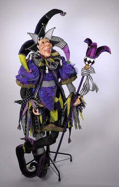 Fine Porcelain China Diane Japan Value Jester Costume, Circus Costume, Mardi Gras, Joker Queen, Joker Clown, Medieval, Court Jester, Pierrot, Doll Display