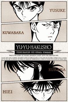 The boys of Yu Yu Hakusho. Manga Anime, Manga Art, Anime Art, I Love Anime, Me Me Me Anime, Anime Guys, Yu Yu Hakusho Anime, New People, Yoshihiro Togashi