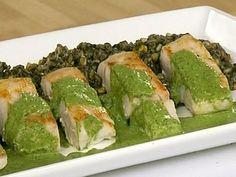 Aprende a preparar esta receta de Rissotto de huitlacoche con postas de róbalo y mojo de hierbabuena, por Josefina Santacruz en elgourmet