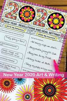 This is such a fun New Years art activity for kids - ideal coloring pages, resolutions and goal sett 5th Grade Activities, New Years Activities, Art Activities For Kids, Holiday Activities, Art For Kids, Fireworks Art, New Year Fireworks, Kids New Years Eve, New Year Art