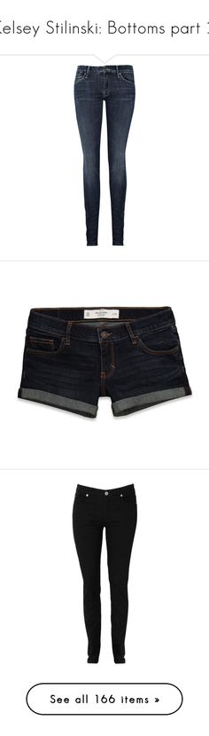 """Kelsey Stilinski: Bottoms part 2"" by nerdbucket ❤ liked on Polyvore featuring jeans, pants, bottoms, calças, skinny jeans, women, grey ripped jeans, blue skinny jeans, destroyed jeans and distressed jeans"