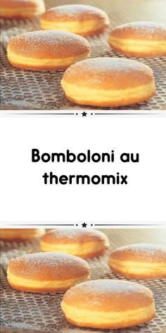 Bomboloni with thermomix a delicious Italian donut for your snack. So simple to prepare, here is the thermomix recipe to make the bomboloni. Italian Cookie Recipes, Italian Cookies, Italian Desserts, Italian Donuts, Italian Pastries, Donut Recipes, Cake Recipes, Dessert Recipes, 3 Ingredient Nutella Brownies