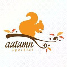 autumn squirrel logo