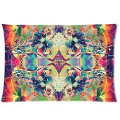 Psychedelic Trippy Colorful Art Soft Zippered Pillow Case Cover 16 by Pillow fashiion Single Pillowcase -- Awesome products selected by Anna Churchill