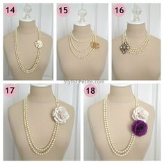 How to wear a 60 Pearl Necklace 21 ways5 by Stylish Petite, via Flickr