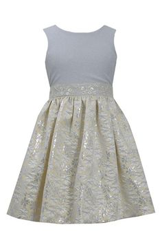 Free shipping and returns on Iris & Ivy Metallic Floral Sleeveless Dress (Big Girls) at Nordstrom.com. A shimmering beaded waistband sets off the shimmery knit bodice from the floral-jacquard skirt of a twirly, utterly enchanting sleeveless dress.